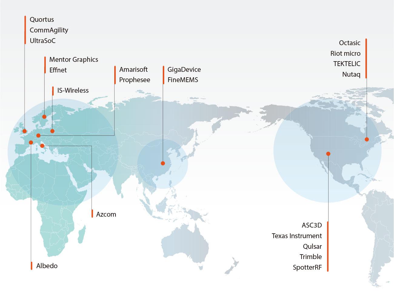 위고스의 월드와이드 파트너는 전세계에 있습니다