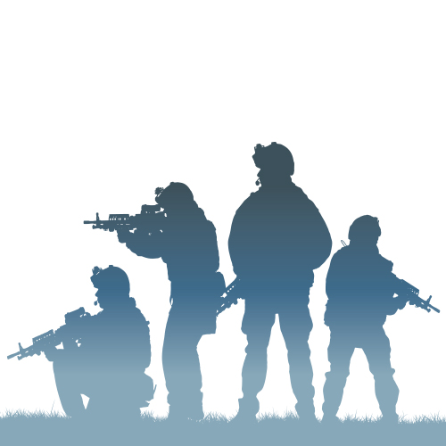 military 분야의 Search & Rescue를 대표하는 군인들 그래픽